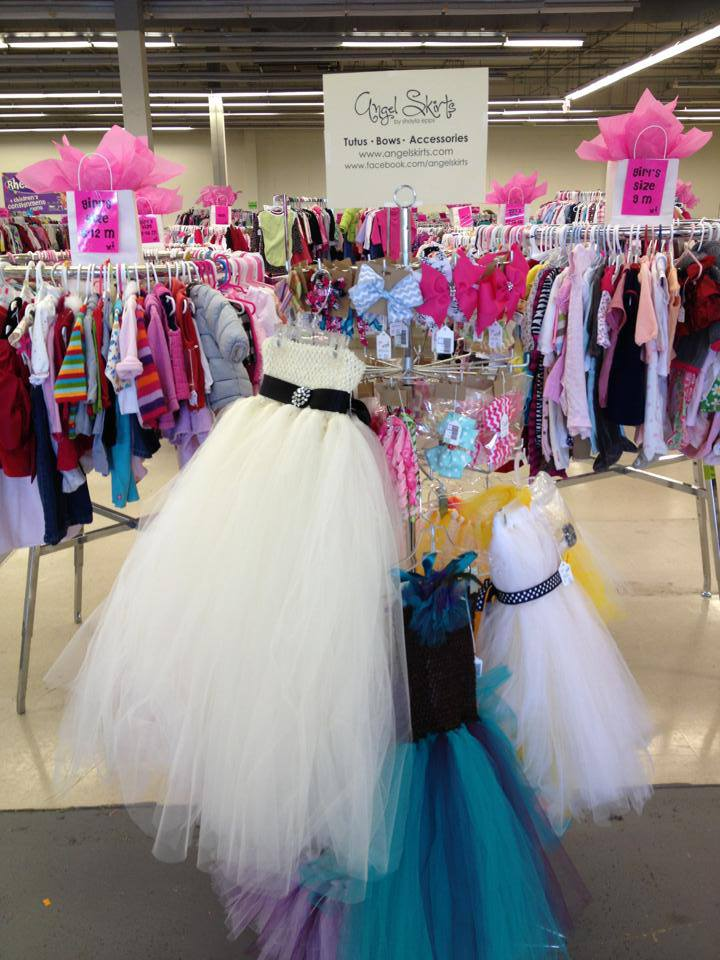 You can find Angel Skirts tutus and bows for discounted prices at Rhea Lana's of North Atlanta & Rhea Lana's of Cobb County.